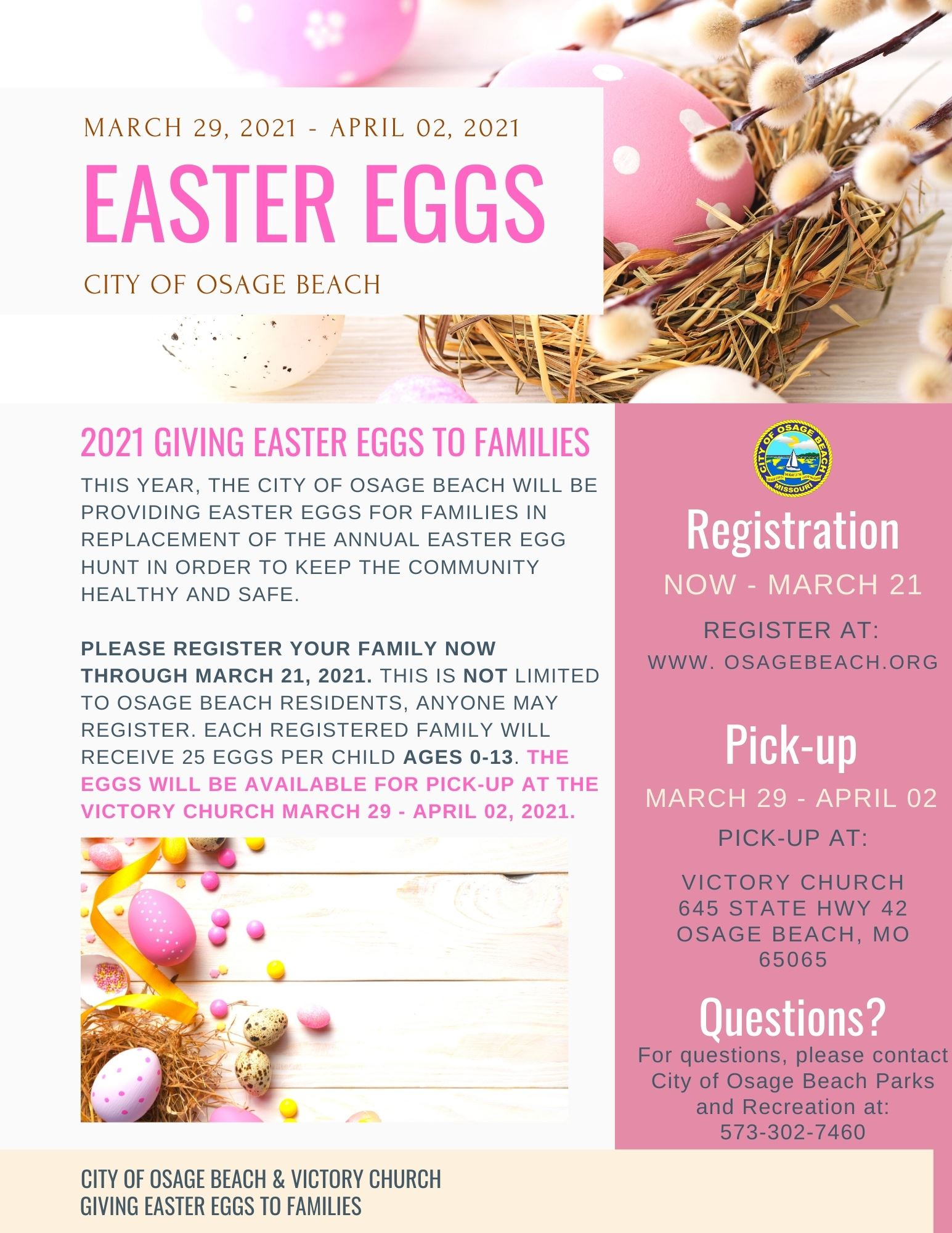 Easter Egg Hunt Flyer